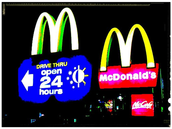 Maccas Check This Out No People The Golden Arches Mc Donald's Illuminated Signs Macca's At McDonald's Sign Golden Arches At Mc Donald's McDonald's McDonald's Signs Mcdonalds I'm Lovin' It ® Macdonalds I'm Lovin' It McDonald's International Goldenarches Mickey D's Mickey Dees Signs Signage Illuminatedsigns Signs_collection Signstalkers Drive Through SIGN. Commercial Sign Western Script