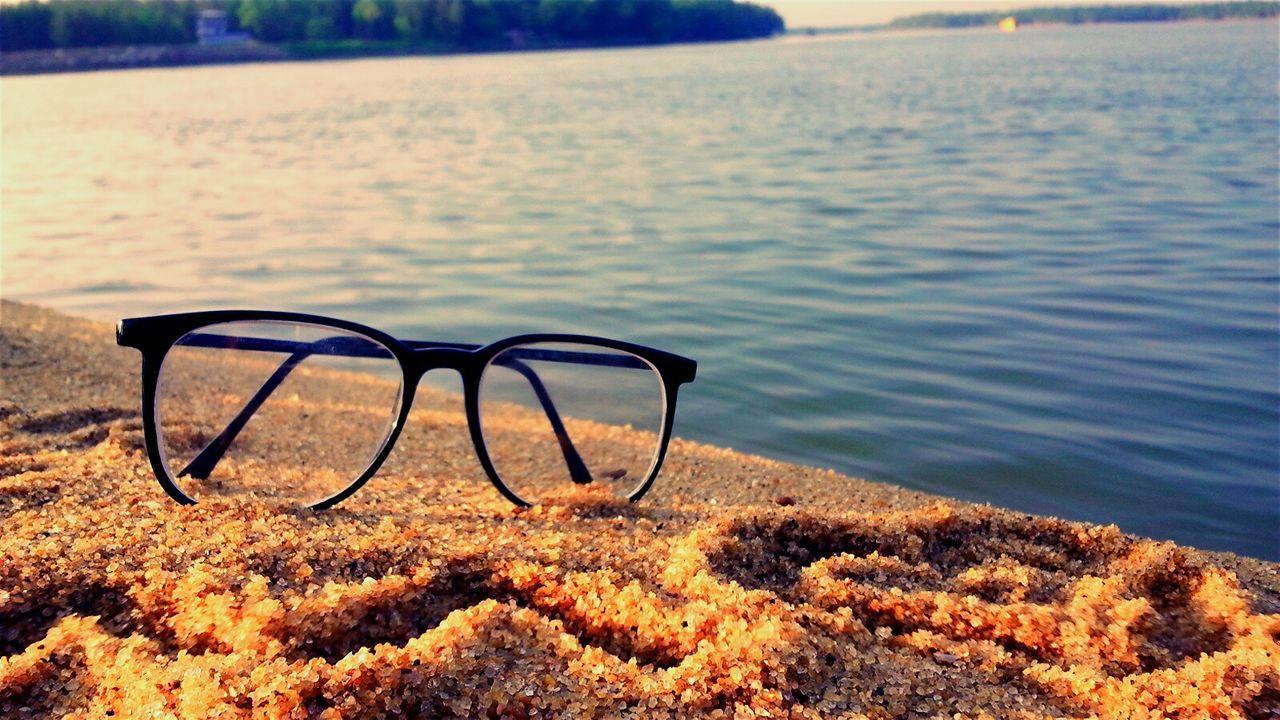Eyeglasses On Sand