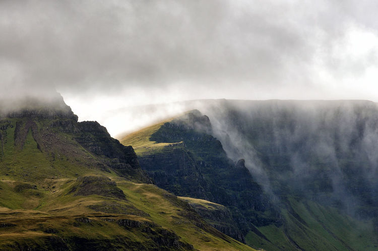 Clouds tumble of the edge of the Trotternish ridge, Skye Low Clouds Scotland Skye Beauty In Nature Cloud - Sky Environment Fog Highlands Highlands Of Scotland Isle Of Skye Landscape Mountain Mountain Range Nature No People Non-urban Scene