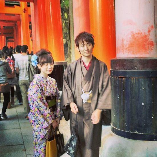 Kyoto Japan Fushimi Inari Orange Traditional