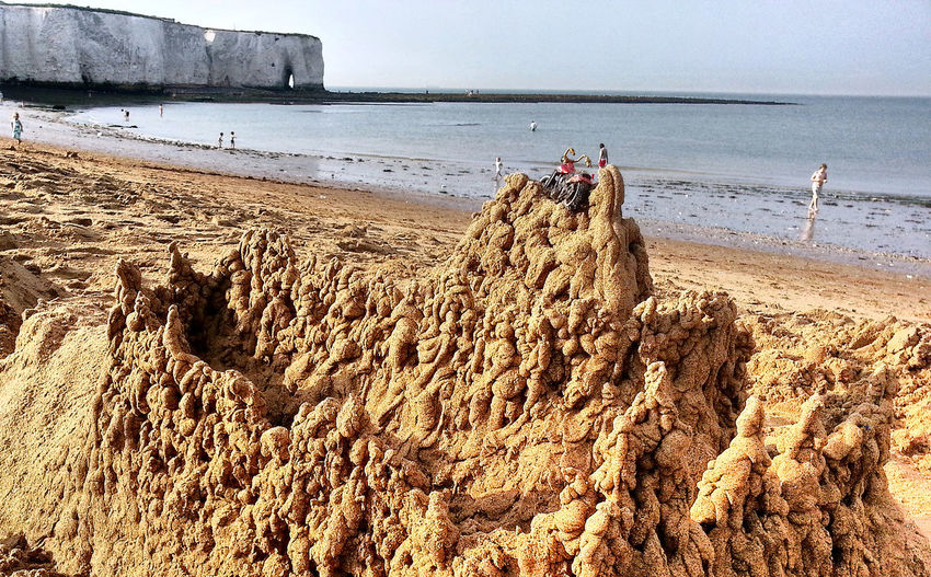 The KIOMI Collection Sandy Beach Sandy Landscape Broadstairs English Coastline Sand Castle