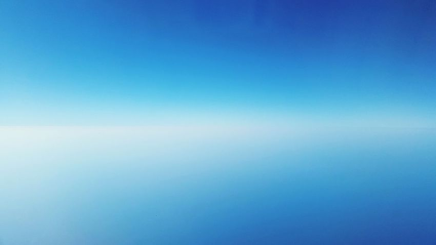 Blue Backgrounds Clear Sky Nature Sky No People Beauty In Nature Flying Flying High Outdoors Day Nocloudsinthesky Windowblindup Windowplane Airplaneview Airplane Window View Skylover Skyobsession Infinity Orizzonti Cielo Azul Armosfera Overthesky Breathing Space Lost In The Landscape