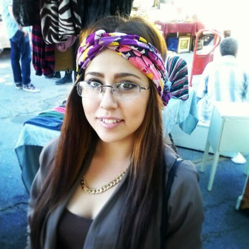 Absolutely adorable..rocking one of my Turban Headbands, shop@ the Melrose Faifax market...here every Sunday ,Turbans ...