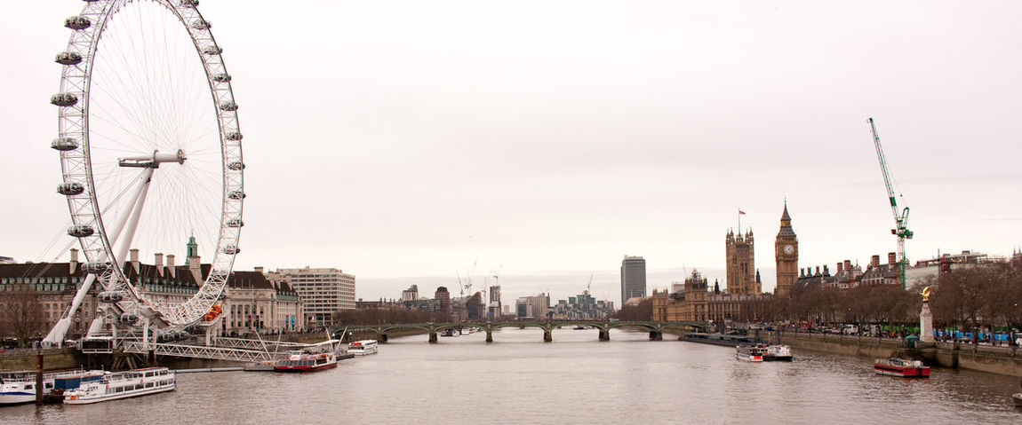 A view down the Thames river in London Bridge London London Eye Parlement Sherlock Thames Thames River Westminster Westminster Palace