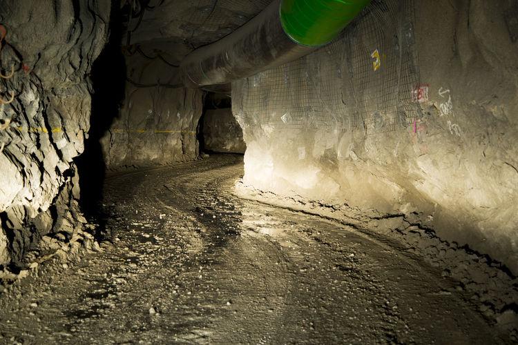 Underground Tunnel in Deep Mine Kalgoorlie Gold Mine Mining Underground Tunnel