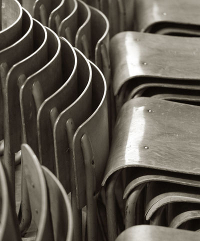 SCHOOL'S OUT Blackandwhite Photography Chairs Close-up Graphics Indoors  School Chairs Simmetry Wood - Material