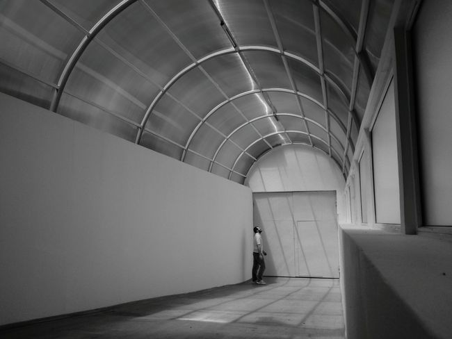Indoors  Green Color Architecture Day No People No Escape Black & White Light Doorway People Retro Styled Lost Alone Young Adult Stuck Lost In The Landscape