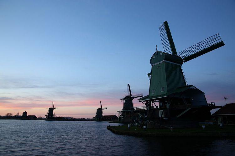 Cities At Night Zaanse Schans Zaanstad Windmill