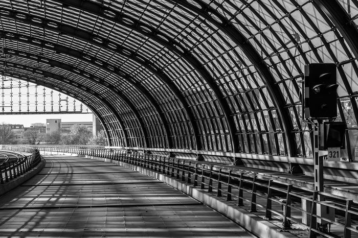Arch Architecture Bahnhof Bridge - Man Made Structure Built Structure Connection Day Indoors  Light And Shadow Modern Modern Architecture No People Pattern Patterns S-bahn S-bahnhof Sbahn Sbahnhof Signal Station Subway Subway Station The Way Forward Train Zug