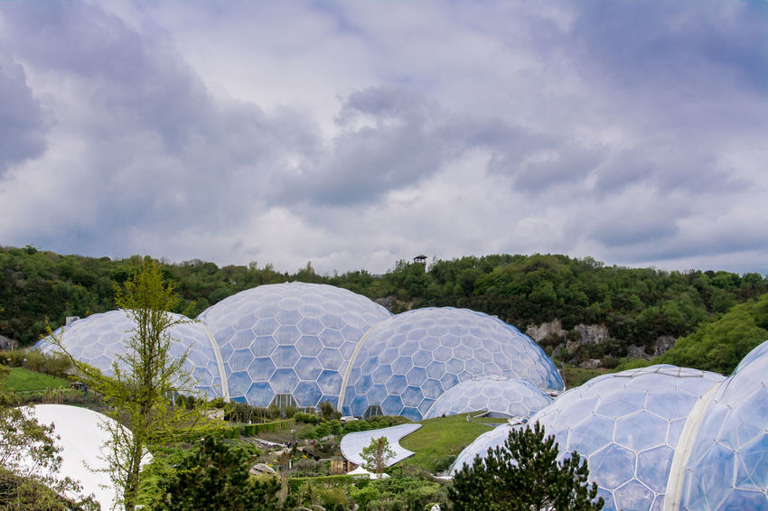 The world-famous Eden project in Cornwall. Biodiversity Biomes Cornwall Cornwall Uk Eden Project Educational Environmental Geodesic Dome Tourism Visitor Center