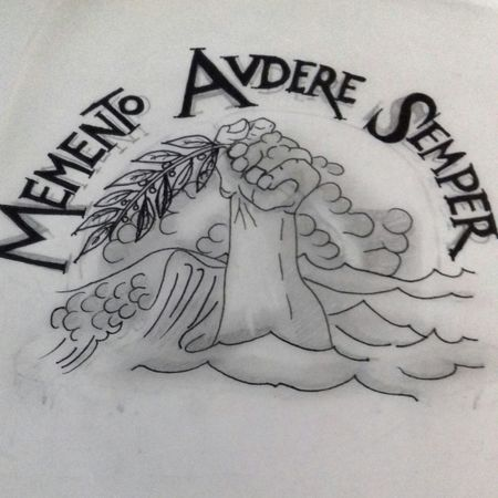 Memento Audere Semper Sketch Text Close-up Pencil Drawing Drawing - Art Product Handwriting