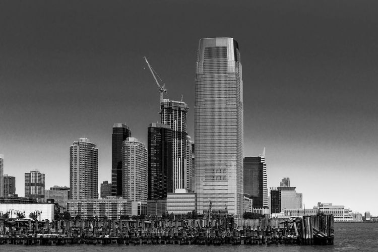 Architecture Blackandwhite Building Building Exterior Built Structure City Cityscape Clear Sky Day Financial District  Landscape Modern Monochrome Nature No People Office Office Building Exterior Outdoors Sky Skyscraper Spire  Tall - High Tower Urban Skyline Water