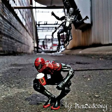 When all you want is to enjoy your coffee, but you know someone is going to mess it up for you. Fwebruary Day 4 Realworldtoys Tcb_illnino_lafamilia Ttp_heroesandvillains Toptoyphotos Spiderman Venom Biggbycoffeeismyhappyplace Ata_pickedbypaul