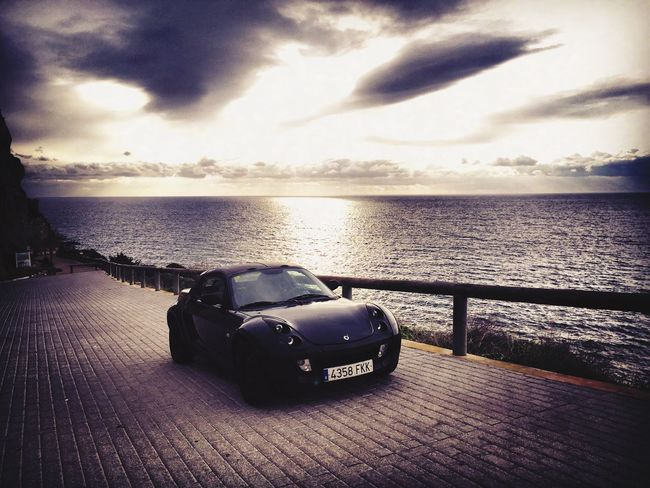 Sky Sea Land Vehicle Nature Stationary No People Beauty In Nature Water Outdoors Day SPAIN Mallorca Smart Roadster