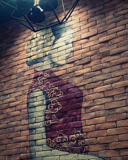 Brick Wall Architecture Wallart, Art, Culture, Mycity, Streetart, Graffiti Chinese Restaurant Philippines ❤️