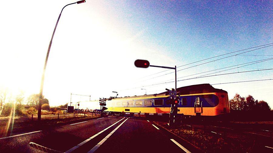 Transportation Mode Of Transport Clear Sky Outdoors Sky No People Day Public Transportation Ns Nederlandsche Spoorwegen Prorail No Leaves On Track😜
