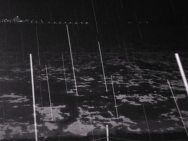 Hailstorm & Rain Winter Cold Raining Day Lake Darkness Night