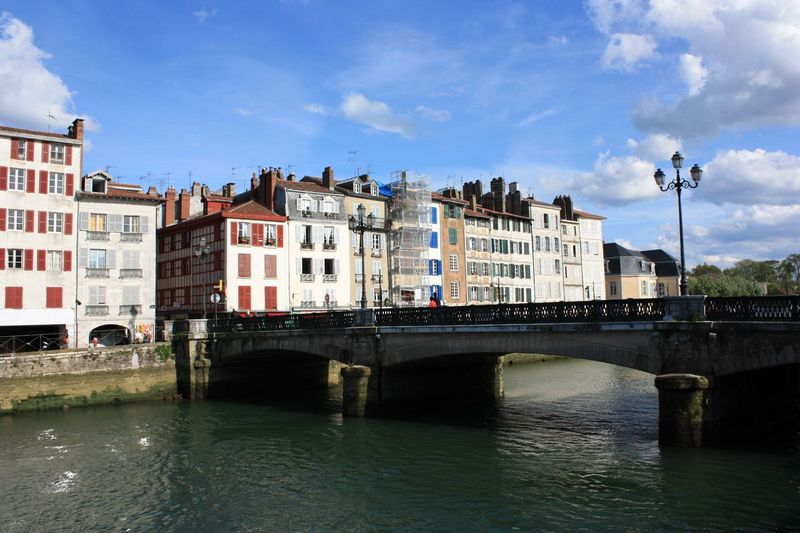 Architecture Bayonne Bridge Building Exterior Built Structure Canal City Cloud - Sky Colorful Colors Day Dock France Nive No People Outdoors Pays Basque Paysage Quais Sightseeing Sky Travel Destinations Tree Water Waterfront