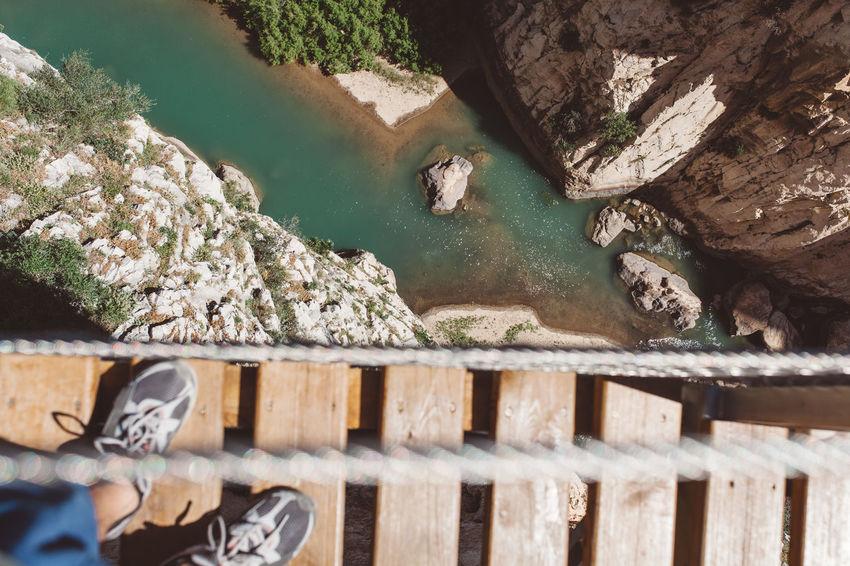 Caminito del Rey, Andalucia, Spain Andalucía Andalusia Bridge Bridge - Man Made Structure Caminito Caminito Del Rey High High Angle View Malaga River SPAIN Go Higher