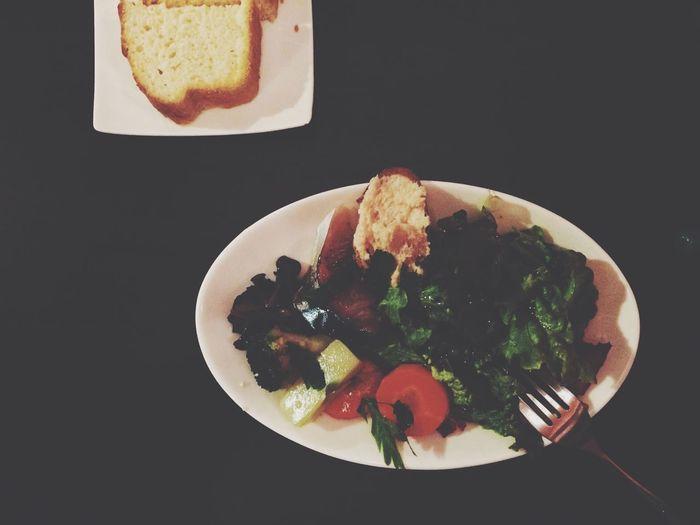 ふりかえり Post ✍✧ Lunch at 中崎町 in Ōsaka-shi , Japan LA LANTERNA Di Genova OSAKA VSCO Vscocam Salad