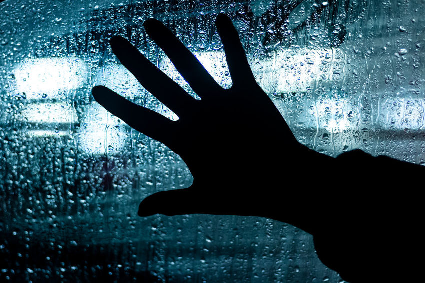 Human Hand Wet Human Body Part One Person Drop Hand Water Real People Body Part Window Rain Close-up Finger Human Finger Glass - Material Indoors  Nature Silhouette RainDrop Rainy Season