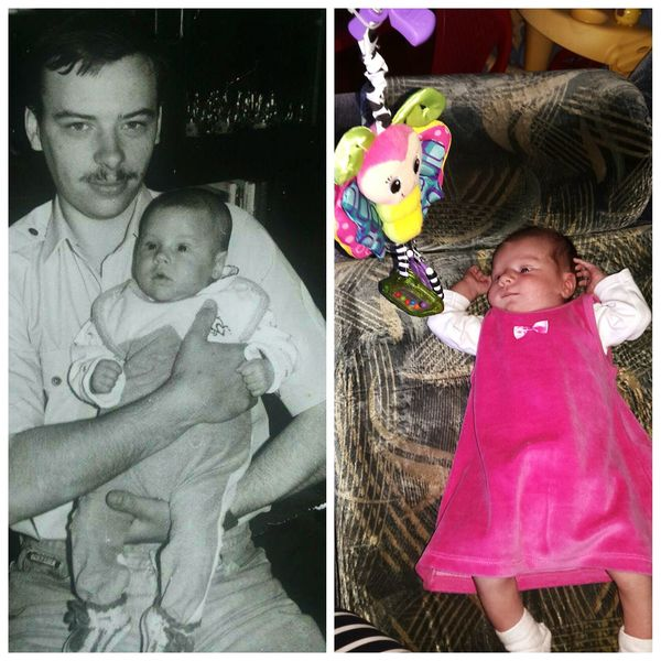 Me in 1991 and my princess at 2015:) Family Mylove Baby ❤ Joyful