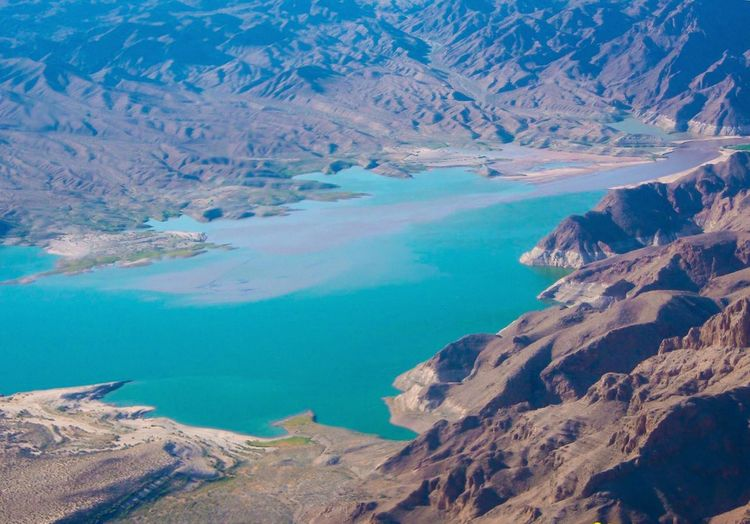 Tranquility Tranquil Scene Beauty In Nature Landscape Geology Outdoors Aerial View Lake Mead Elevated View Physical Geography A Bird's Eye View Lake Day Travel Destinations