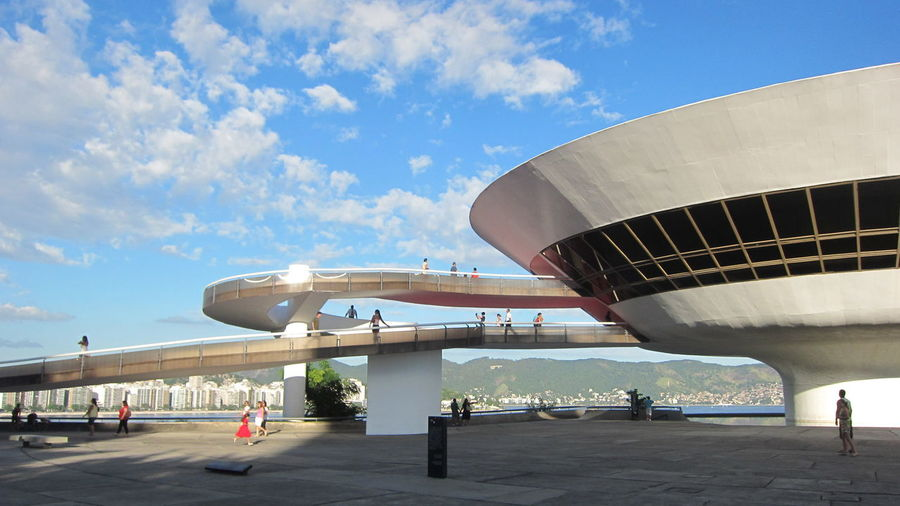 Niemeyer Museum Of Contemporary Arts Against Sky