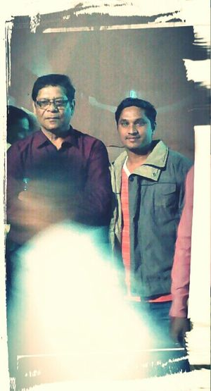 With Mohan joshi sir( Actor)