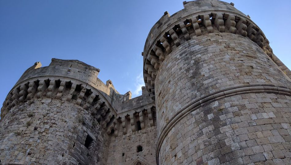 Low Angle View History Architecture Sky Clear Sky Travel Destinations Building Exterior No People Outdoors Day Castle Tower Towers Towers And Sky Towers View Fortress Fortress Wall Stronghold Rhodes