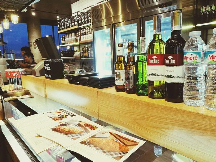 Liqueur Bar Counter Coffee Airport Relaxing