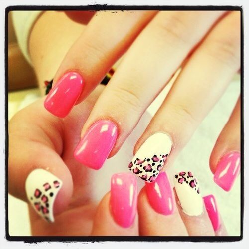 Cute Leapord And Pink Nails!
