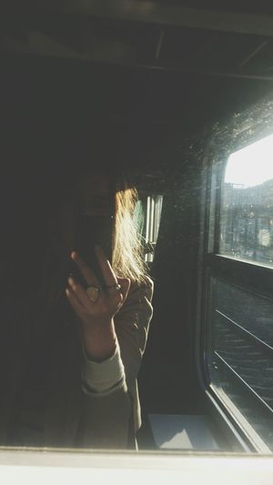 In The Train Myself When I Had Blonde Hair It Was A Good Day