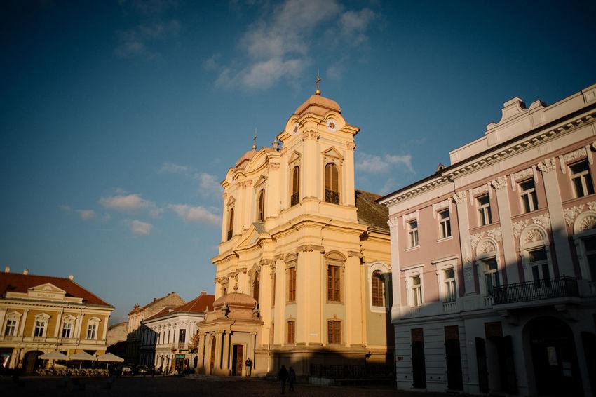 Romania Timisoara Architecture Comunist Plaza Romanian Church Rumunija Temisvar