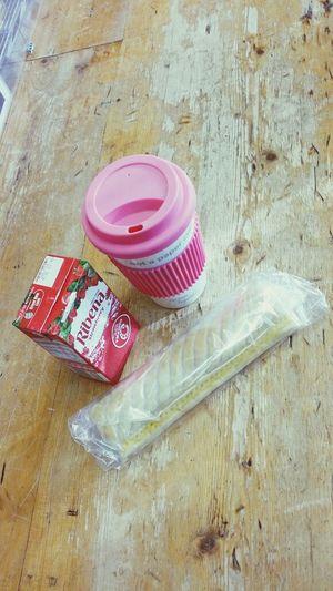 breakfast this morning ? Coffee Ribena Sausageroll Breakfast