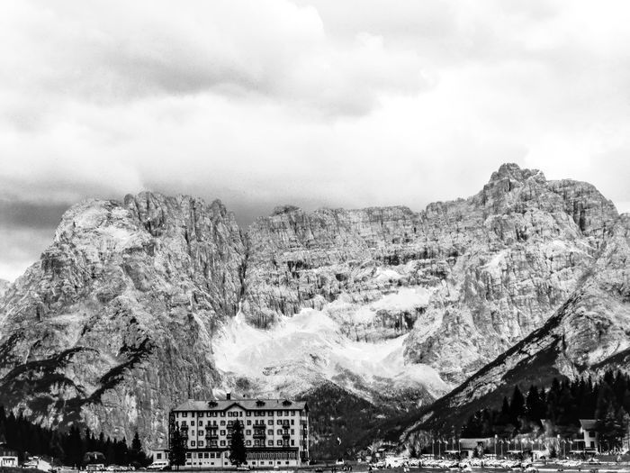 Dolomites in Black and White EyeEm Best Shots EyeEm Nature Lover EyeEm Best Shots - Nature EyeEmBestPics EyeEm Best Shots - Black + White Blackandwhite Nature Rock - Object Beauty In Nature Day Mountain Outdoors No People Scenics Sky Physical Geography Tree Landscape