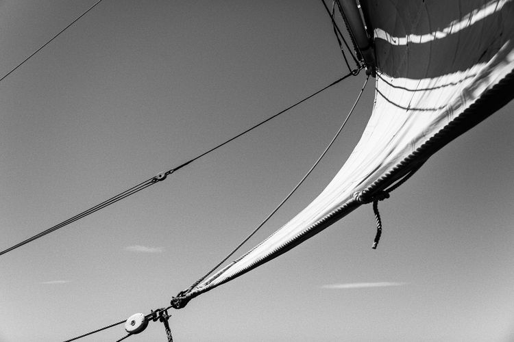 A trip on the 3 Mats Barque Belem back in June 2014. We sailed between Marseilles and Nice. Blackandwhite Bnw Bnw_friday_eyeemchallenge Bnw_society Canvas Clear Sky Day Destination France Hanging Lifeatsea Low Angle View Mediterranean  Mediterranean Sea Sail Sailing Sailing Ship Sailor Sea Ship Sky Summer Tallship The Belem Travel