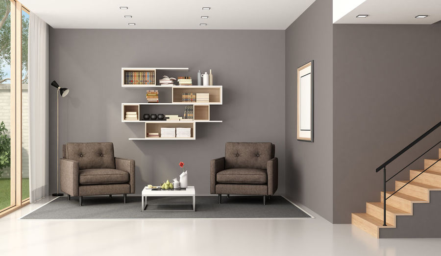 Bookcase Architecture Armchair Coffee Table Domestic Room Flooring Furniture Home Home Interior House Indoors  Living Room Modern No People Wall - Building Feature Window