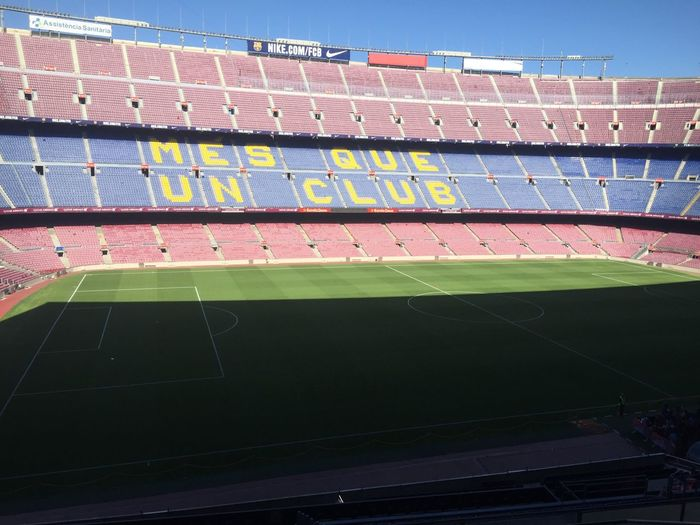 Stadium Sport Playing Field Day Sports Venue No People Soccer Running Track Outdoors Soccer Field Competition Grass Sports Track Barcelona EyeEmNewHere The Architect - 2017 EyeEm Awards Camp Nou