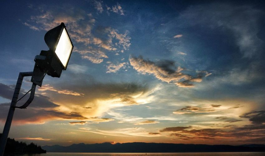 Lamp Cloud - Sky Low Angle View Sky No People Outdoors Nature Lake View Ohrid Ohrid Lake Light Light In The Darkness