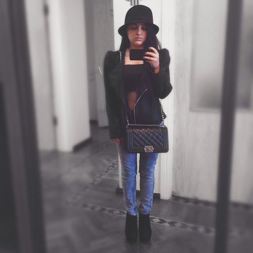 Selfie Todays Outfit! Hello World That's Me