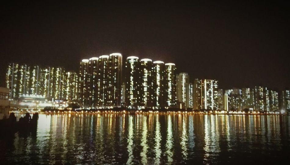 Geometric Shapes Landscape Urban Landscape HongKong Buildings Tsuen Wan Cityscapes Travel Night Lights Hanging Out