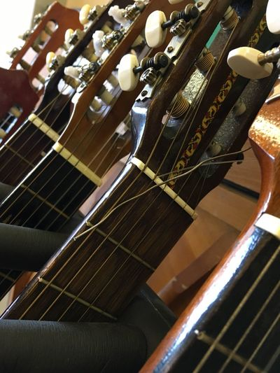 Music Musical Instrument Musical Instrument String Indoors  Wood - Material Arts Culture And Entertainment Close-up No People Guitar Guitar Neck Instruments Necks Tuning Guitars Knob Day
