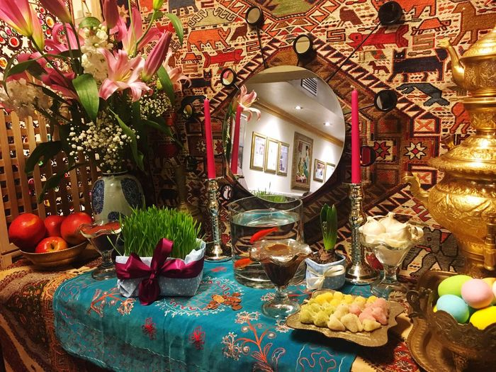 New Year Iran Persian Nowruz Indoors  Celebration No People Flower Table Food Day Freshness