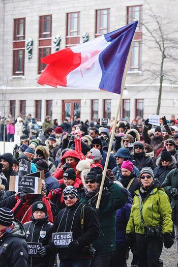 Collected Community Jesuischarlie Quebec France Flags Walk Better Together
