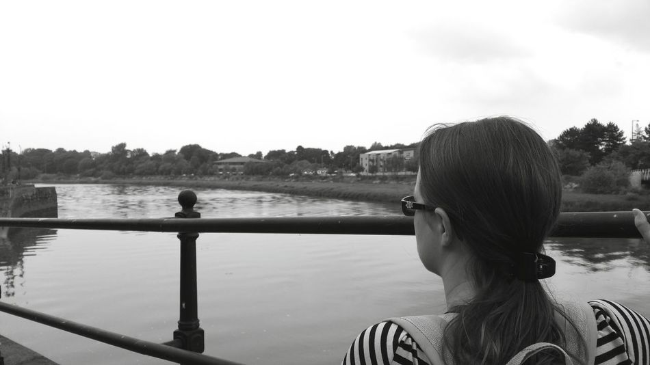 Grabbed a great shot of my wife enjoying the views from a bridge in Lancaster. Samsung Galaxy Note 4 Android Vscocam Smartphonephotography Blackandwhite