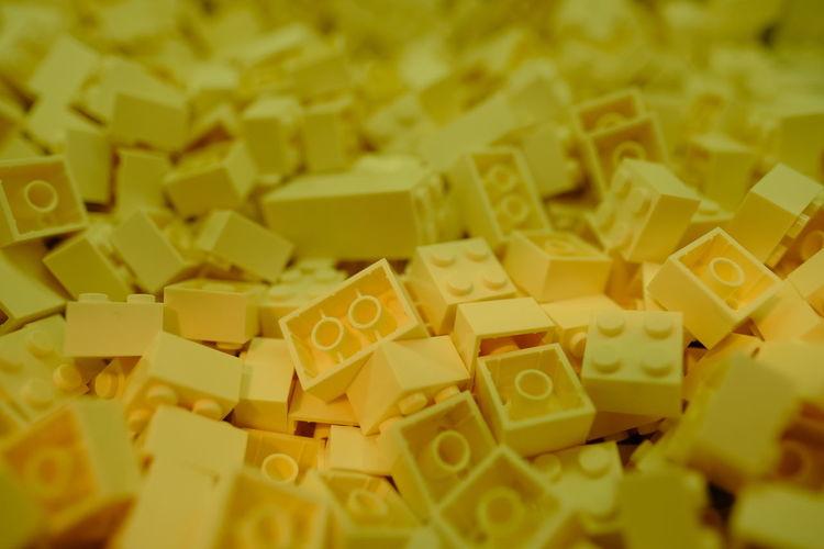 Full frame shot of yellow toys