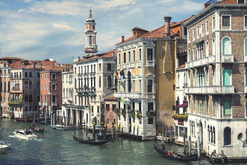 Venice grand canal and architecture
