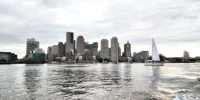 Boston from the harbor BostonHarbor Boston Harbor Popular Popular Photos First Eyeem Photo FirstEyeEmPic Boston Boston, Massachusetts Concrete Jungle Massachusetts City Cityscape Urban Skyline Water Skyscraper Modern Ferris Wheel Sky Architecture Building Exterior Waterfront Boat Skyline Office Building Financial District  Tower