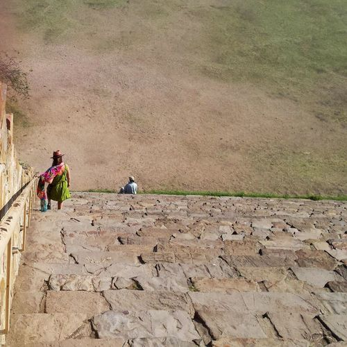 Outdoors Real People Monte Alban Zapotec Ruins Steep Stairs Travel Destinations Exploring Exotic Places Mesoamerica Pyramid Fresh On Eyeem  Beach Sand Men Occupation Agriculture Day Nature Farm Worker Adult People